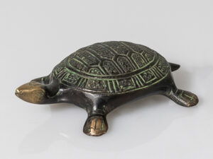 Schildkröte klein, 10,5 cm Messing antik