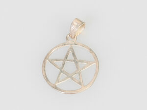 Pentagramm mit Rand Anhänger