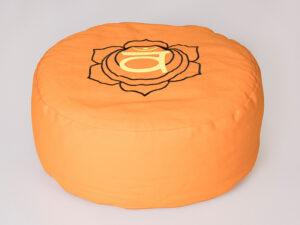 Sakralchakra Meditationskissen mit Buchweizen gefüllt Ø 36 cm x 15 cm hoch