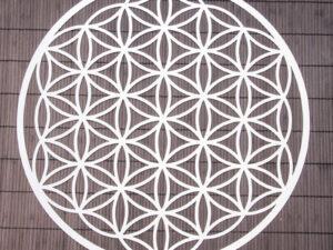 Blume des Lebens ø 25 cm Wandschmuck aus Edelstahl