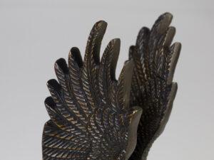 Adler, 18,5 cm Messing antik