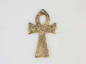 Ankh Messing, gross mit ägyptischem Symbol 19 cm