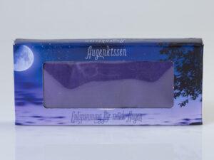 Augenkissen violett aus 100% Seide