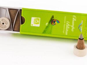Champa-Blüten Räucherkegel – Green Line
