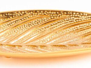 Räucherstäbchenhalter Blatt, gold aus Weißmetall ca. 25 cm
