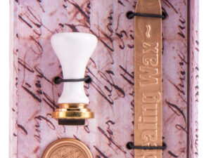 Blume des Lebens Siegel-Set Stempel und goldenes Siegelwachs
