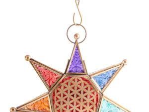 Orientalisches Licht Chakra Stern mit Kette