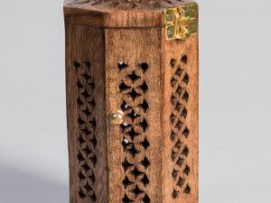 Räucherlaterne, 19cm aus Mangoholz
