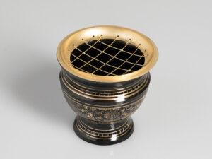Netzräuchergefäss schwarz / gold Ø ca. 9 cm