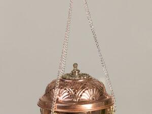 Fuire – Schwenkräuchergefäß Kupfer, ornamentiert, 13.5 cm hoch