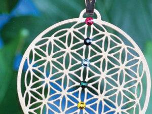 Blume des Lebens versilbert Chakramit 7 SWAROVSKI ELEMENTS