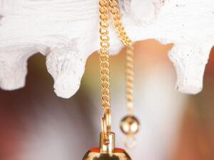 Tropfenpendel, Messing vergoldet