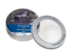 Wassersteine in Geschenkdose – Amethyst