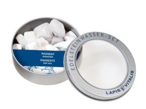 Wassersteine in Geschenkdose – Magnesit
