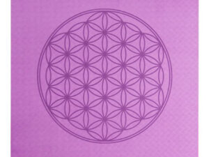 Yogamatte TPE ecofriendly – dunkellila/zartlila 6mm zweischichtig mit Blume des Lebens