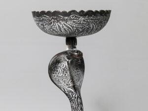 Kobra – Räuchergefäß, Messing graviert ca 20 cm hoch