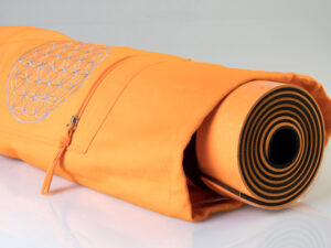 Yoga Tasche mit Blume des Lebens orange Länge 75 cm