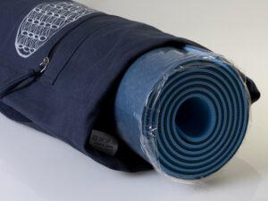 Yoga Tasche mit Blume des Lebens blau Länge 75 cm