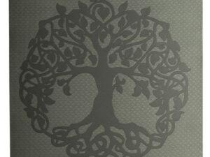 Yogamatte TPE ecofriendly – dunkelgrün/ hellgrün mit Baum des Lebens